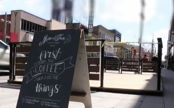 Patios popping up in Downtown Kitchener in anticipation of restrictions being lifted article