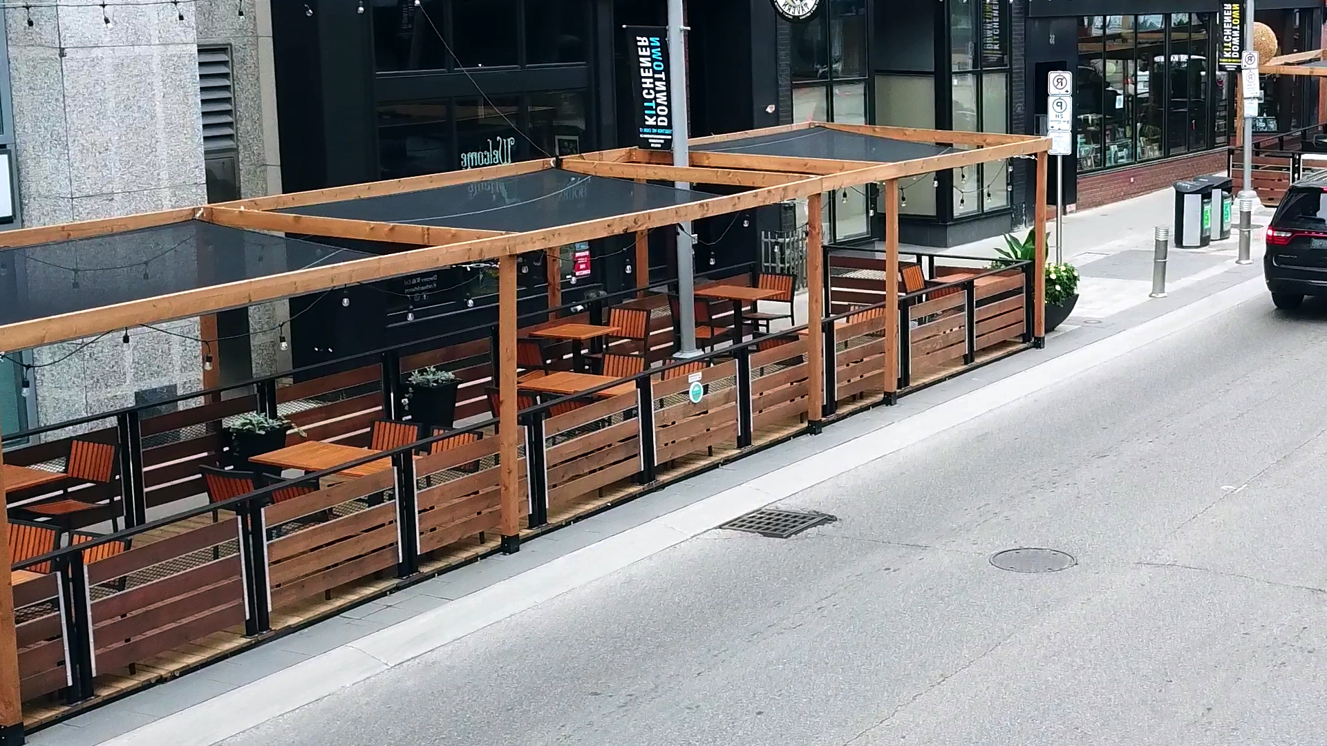 street patio with canopy covers