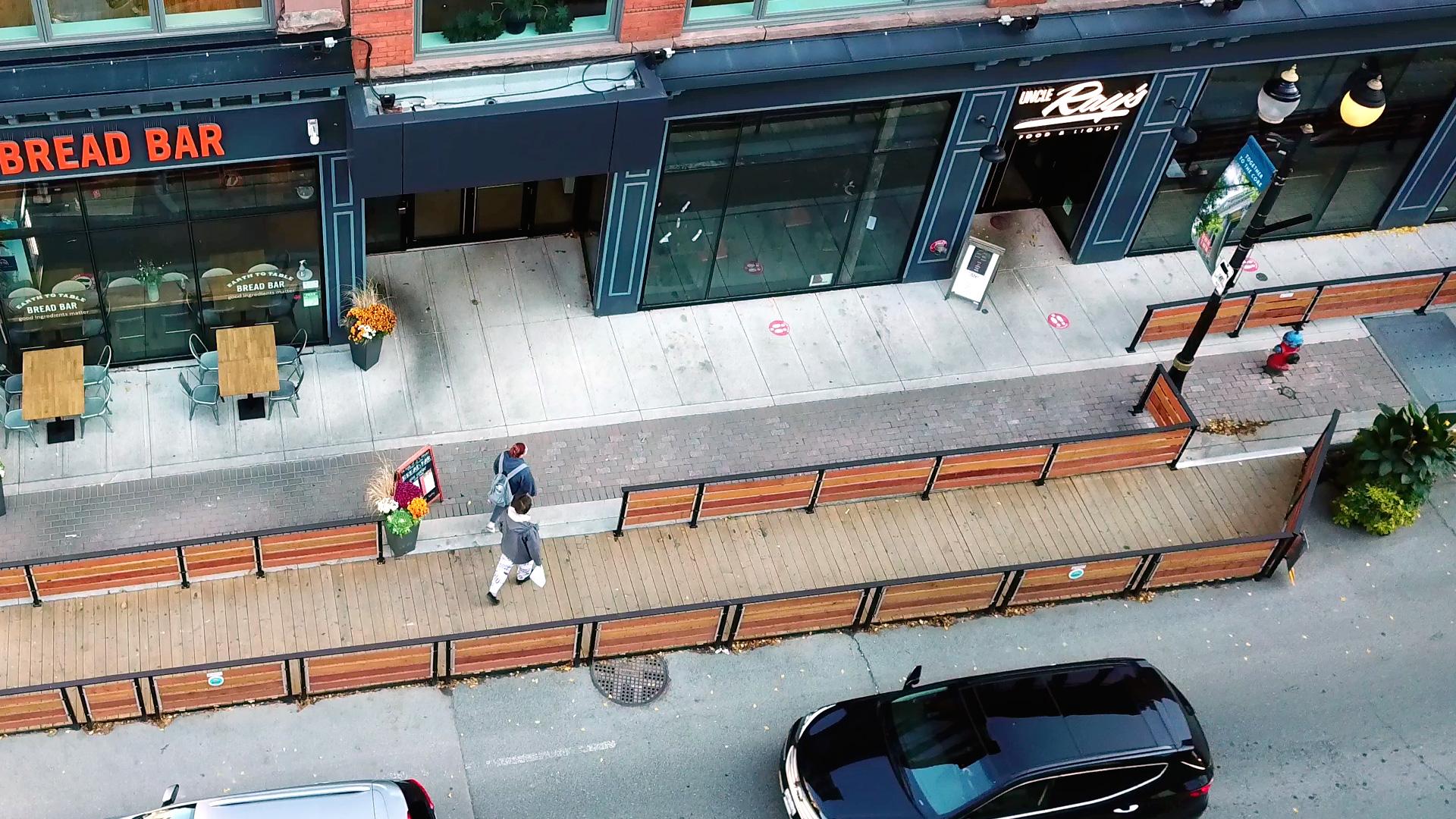 Bread Bar sidewalk bump-out